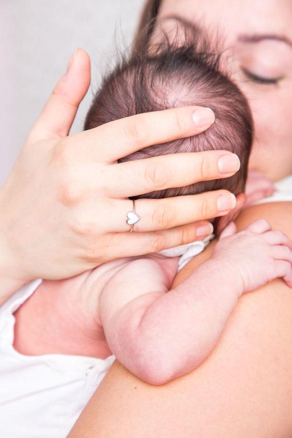 Anillo Corazón Fino de Leche Materna