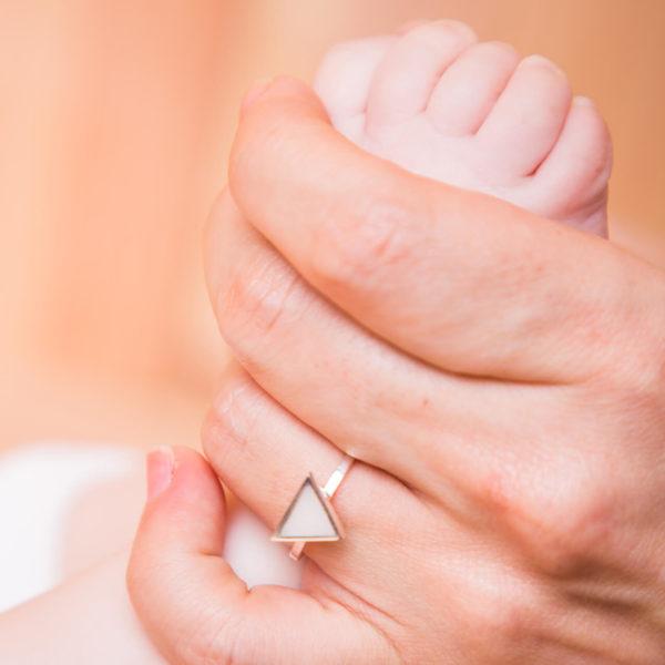 Anillo Triángulo de Leche Materna