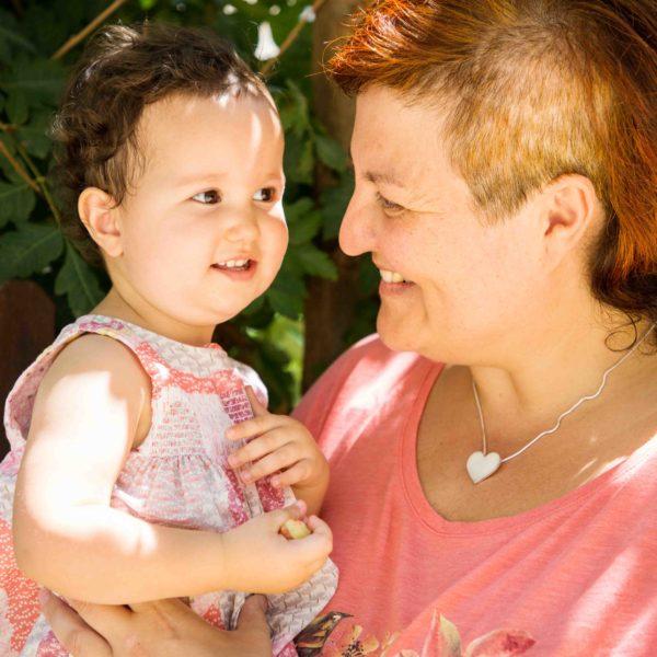 Colgante Corazón con mucho amor de leche materna