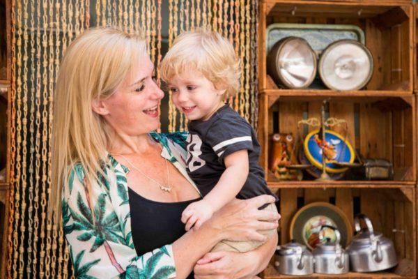 Colgante Corazones con leche materna
