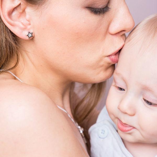 Pendientes Estrella de Leche Materna