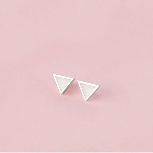Pendientes Triángulo de Leche Materna