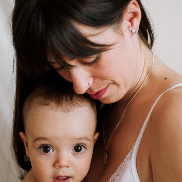 Pendientes Gota con Corazón de Leche Materna